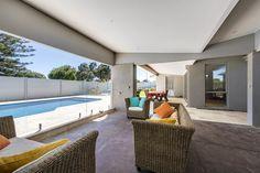 Skipton Way alfresco by Exactus Homes, Perth Outdoor Decor, Timber, Alfresco Area, Home, Glass Door, Beautiful Homes, Home Renovation, Areas, Renovations