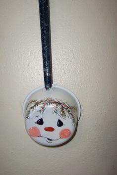 Vintage Enamel Ware Water Dipper Snowman OOAK by LuRuUniques, $20.00