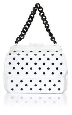cc54620e435f Nancy Gonzalez Shiny Black Dots Shoulder Bag Best Handbags