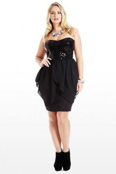 Petal Push Sequin Strapless Dress