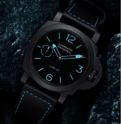 You can read all about the new Panerai LAB-ID Luminor 1950 Carbotech 3 Days Watch with a 50-Year Guarantee and also limited to only 50 pieces  Read the article: http://www.ablogtowatch.com/panerai-lab-id-luminor-1950-carbotech-3-days-watch-50-year-guarantee/