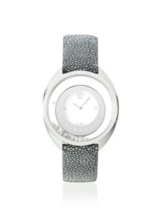 Versace Women's 86Q991MD497 S112 Destiny Grey Leather Watch   I think it's time for a new watch (punnnny)