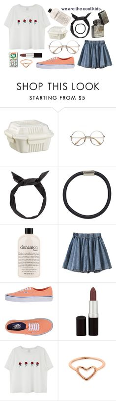 """sugar sweet"" by coffee-crumbs ❤ liked on Polyvore featuring Crate and Barrel, Retrò, Hershesons, philosophy, Vans, Rimmel and ChloBo"