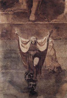 Johann Heinrich Füssli - Dante and Virgil on the Ice of Kocythos