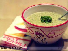 Hafif ve lezzetli bir brokoli çorbası, krema değil sütle yapıyorum.