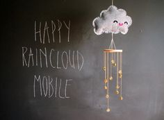 DIY felt  Raincloud Mobile