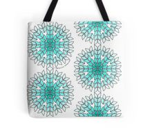 Knit Stitch Starburst Turquoise Gradient Tote Bag