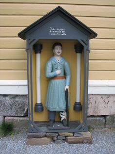 Evijärven kirkon vaivaisukko Finland, Statue, Sculptures, Sculpture