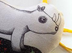 Rhino to the Moon - KikiMood - Etsy