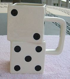 Vintage Dice Shaped Hand Painted Ceramic Coffee Mug Cup Vintage Gaming Mugs http://www.amazon.com/dp/B00ZKK8F8E/ref=cm_sw_r_pi_dp_kz1Fvb0YXNSGC