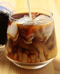 Swirls.  Now doesn't that look delicious? - Its not my coffee but I wouldn't mind having one.