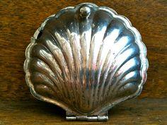 Vintage English Silver Sea Shell Dish by EnglishShop on Etsy, $45.00