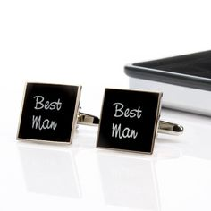 Choose from a number of roles with these Wedding Party Cufflinks with personalised Chrome Box.