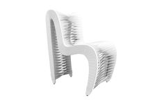 B2061WO / Seat Belt Outdoor Dining Chair, White