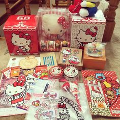 """130 Likes, 6 Comments - Alice (@alliiccee) on Instagram: """"My package arrived from @hellokittytreasure!! Thank you SO much!!! ❤️❤️❤️😍😍😍😍😱😱😱😘😘😘😘 #sanrio…"""""""