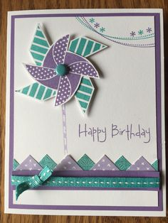 The Color Dare challenge #186 from Color My Heart Color Dare is to create something with the Close to My Heart colors, White Daisy, Gypsy and Lagoon. With Spring here I thought it would be fun to do a birthday card with the Close to My Heart retired Pinwheel stamp.  I also do a lot of sewing and...