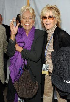 Joni Mitchell and Jane Fonda