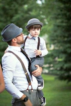 df0bc1a07189b Well-Groomed Advice  Father   Son Matching Outfits ~ We would never ...