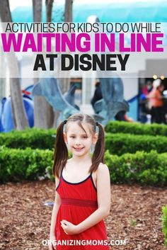Activities for Kids to Do While Waiting in Line at Disney! Here are some great suggestions for helping kids pass the time while waiting in line at a Disney theme park! Disneyland Vacation, Disneyland Tips, Disney Vacation Planning, Disney World Planning, Walt Disney World Vacations, Vacation Ideas, Disney Parks, Orlando Vacation, Trip Planning