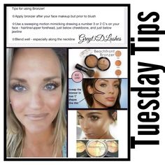 Beachfront Bronzer Tuesday Tips Browse, shop, book a party or join my Younique team HERE  ➡️www.greyt3dlashes.com