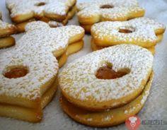 Linecké koláčiky so salkom - NajRecept. Slovak Recipes, Czech Recipes, Christmas Baking, Christmas Cookies, Christmas Recipes, Meringue Cookies, Macaroons, Eid, Bagel