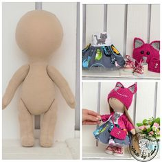 Kit Blank dolls body- 24 cm with clothes Cat Beige blank dolls Doll blank rag doll body the body of the doll cloth textile doll Textiles, Chat Beige, Kit, Rag Doll Tutorial, Color Del Pelo, Witch Boots, Sewing Dolls, Color Beige, Doll Patterns