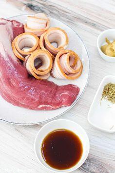 Maple Bacon Wrapped Pork Tenderloin Bacon Wrapped Pork Tenderloin, Maple Bacon, Sweet And Salty, Easy, Recipes, Ripped Recipes, Cooking Recipes