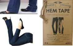 """FASHION FIX OF THE WEEK. Hem Tape for Denim €15.00. The first durable double-stick tape specially created for denim to alter the length of your jeans in a flash! Its strong adhesive, grips fabric fibres for a durable hold but leaves no sticky residue behind and the fabric won't pucker so you get a clean, smooth hem. Saves on alteration costs and better still you can wear your """"new"""" Jeans instantly.  http://www.secretfashionfixes.ie/hem-tape-for-denim/b6%20hem%20tpepd.html"""