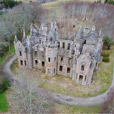 Dunalastair House, Scotland, site of an earlier house built by great poet chieftain, Alexander Robertson Abandoned Buildings, Abandoned Mansion For Sale, Old Abandoned Houses, Abandoned Castles, Abandoned Mansions, Old Buildings, Old Houses, Manor Houses, Abandoned Places In The Uk