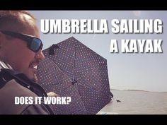 Umbrella Sailing a Vibe Maverick 120 SUP to Little Tybee Island - GKF Ca...