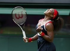 Serena Williams of the United States celebrates after defeating Jelena Jankovic of Serbia in their women's singles tennis match at the All England Lawn Tennis Club during the London 2012 Olympics Games July REUTERS/Stefan Wermuth Serena Williams Wins, 2012 Summer Olympics, Olympic Gold Medals, Tennis Quotes, Lawn Tennis, Tennis Match, Tennis Clubs, French Open