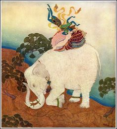 Edmund Dulac - The Kingdom of the Pearl by Leonard Rosentahl - Pearl of the Elephant
