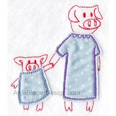 Mom Pig and Toddler