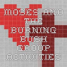 Burning Bush Maze | Children's Bible - Moses | Pinterest