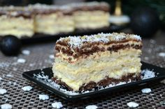Romanian Food, Food Cakes, Coco, Cookie Recipes, Delicious Desserts, Caramel, Bakery, Food And Drink, Sweets