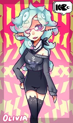 A LOT She's now a teenage lmao here is her other design: Artwork: Kimo-Chi Olivia Stay Fresh, Deviantart, Girls, Anime, Toddler Girls, Daughters, Maids, Cartoon Movies, Anime Music