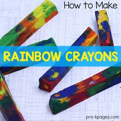 How to Make Rainbow Crayons - Pre-K Pages