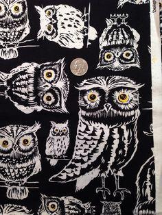 Auto Car Trash Bag or Organizer Black and White Owls on Etsy, $10.00