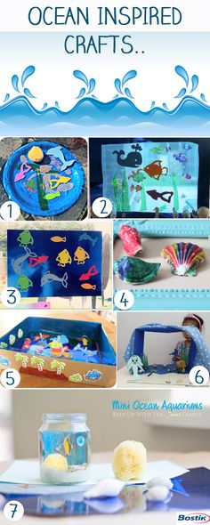 a number of fun ocean inspired crafts to try :)