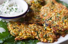 The combination of corn and zucchini make a tasty fritter that can be enjoyed as an appetizer for 4 or light main course for Vegetable Entrees, Vegetable Sides, Italian Menu, Italian Recipes, Spiral Vegetable Cutter, Zucchini Corn Fritters, Tomato Relish, Summer Recipes, Good Food