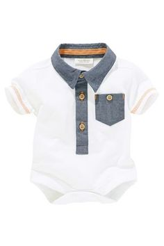Buy White Polo Body (0-18mths) from the Next UK online shop