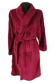 f9c9bc218b LUXURY MENS GENTS FULL LENGTH VELOUR FLEECE ROBE DRESSING GOWN HOUSECOAT  ROBES + BELT SIZE S- XL  Amazon.co.uk  Clothing