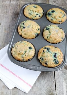 This is my favorite blueberry muffin recipe - so creamy and delicious! #recipe #muffin