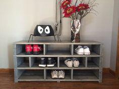 Jenny Reclaimed Wood Shoe Storage Caddy 48W X 12D by knottypallet