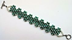 Go Green Bracelet 4. Beginners Beading Jewelry pattern for Beginners