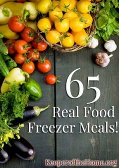 Best resource I've found so far for freezer meal ideas! 65+ Healthy Real Food Freezer Meal Recipes1