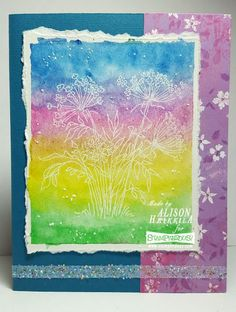 """#Cre8time for embossing technique Letter """"J"""" fit for a Queen Annes Lace card. #Stampendous"""