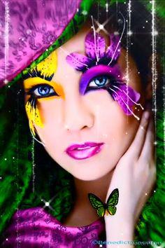 Beautiful lady blinking animation I made 💄 Fantasy Art Women, Beautiful Fantasy Art, Beautiful Gif, Beautiful Fairies, Beautiful Women, Beautiful Flowers Images, Flower Images, Animated Love Images, Splash Images