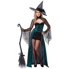Adult Enchantress Sexy Costume ($75) ❤ liked on Polyvore featuring costumes, halloween costumes, multicolor, shrug cardigan, adult witch costumes, salem witch costume, sexy costumes and adult costume