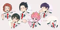 My Hero Academia // BNHA // Gender Bend Ochaco Uraraka // Uravity // Gender Bend Tsuyu Asui // Froppy // Gender Bend Momo Yaoyorozu // Creati // Gender Bend Mina Ashido // Pinky // Gender Bend Kyoka Jiro // Earphone Jack // Gender Bend Toru Hagakure // Invisible Girl